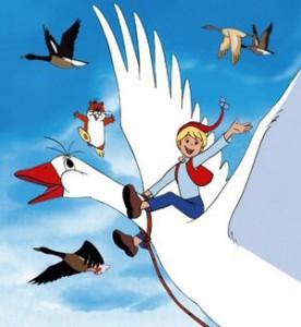 Högt ovan jordens fjättrande bojor flyger vi...