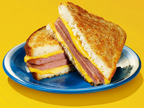 Spam with grilled cheese. And that´s the TRUTH!