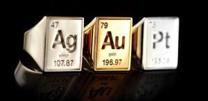 silver gold platinum